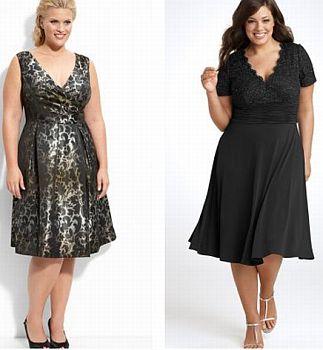 Стильные платья для девушек с большим бюстом