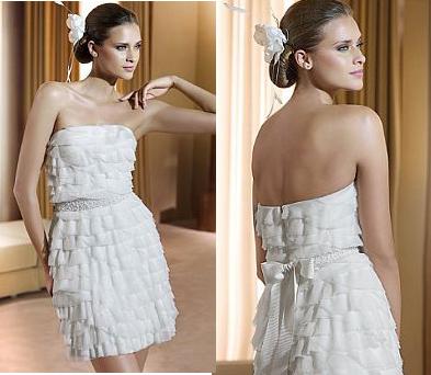 Коротко свадебное платье