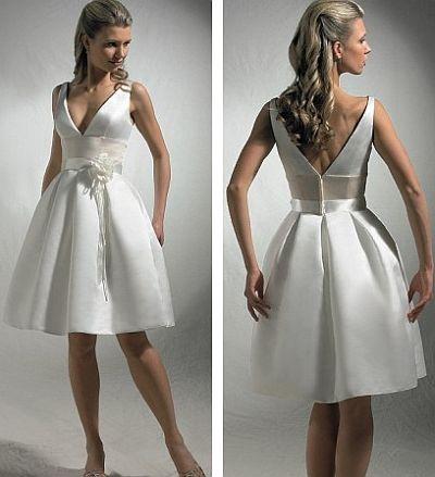 Короткое свадебное платье – свежее