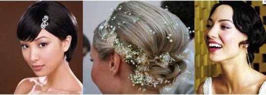 свадебные прически для коротких волос