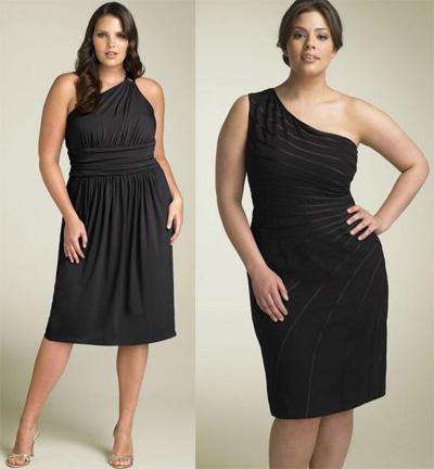 модные платья для полных девушек фото