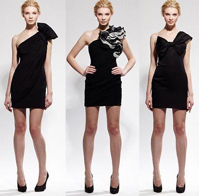 Короткие платья через одно плечо