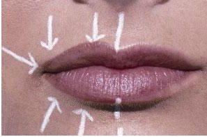 Как губы сделать ровными