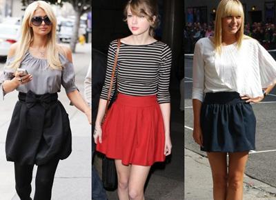 Мода красные юбки