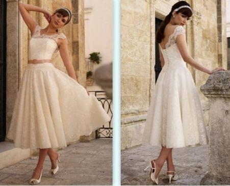 Свадебное платьев стиле 60-ых