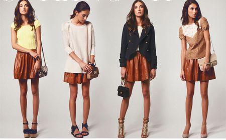 С чем носить кожаную юбку  Модные образы и фото fd62e020748