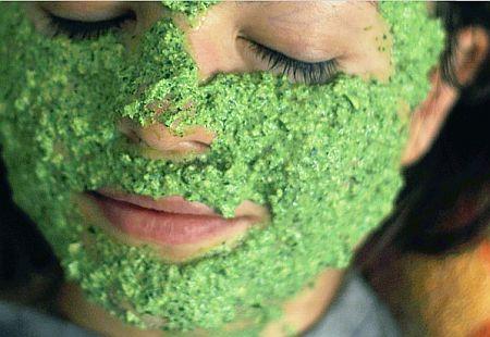 маска для лица из петрушки