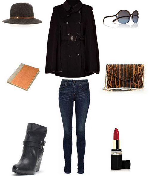 чёрное пальто с чем носить фото