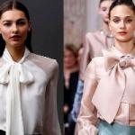 Трендовая вещь сезона: как носить блузку с пышным бантом